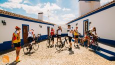Aigars Paegle with guests in Portugal on a Private Bike Trip organized by HC Bike Tours