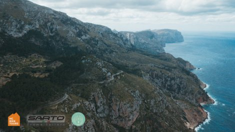 Tramuntana mountains famous cycling coastal road - Private bike trips with HC Bike Tours
