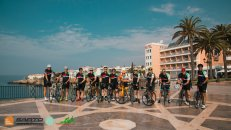 Stockport tri club on a bike tour in Andalusia with HC Bike Tours
