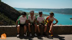 HC Bike Tours owner Aigars Paegle with guests in France Gorge du Verdon Provence