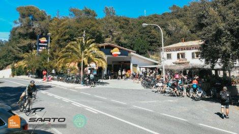 Coll de Sa Bataia famous coffee stop for cyclists - HC Bike Tours Mallorca cycling camp 2021