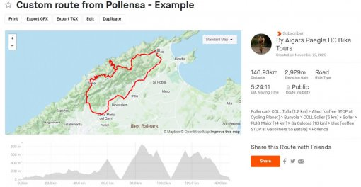 Custom Mallorca cycling routes for your bike rides free of charge - HC Bike Tours