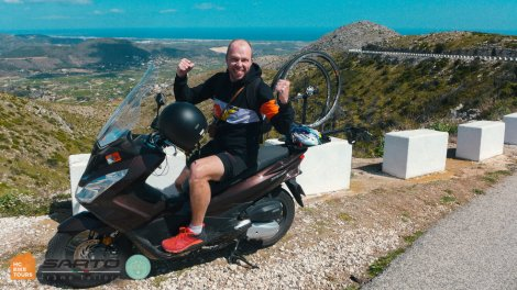 Motorbike SAG support and motorpacing in Mallorca   HC Bike Tours