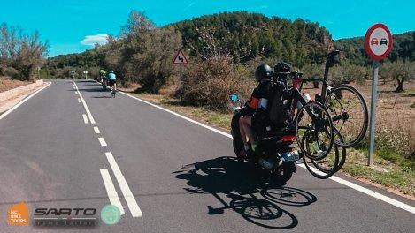 Mallorca cycling SAG support by motorbike   HC Bike Tours