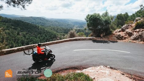 Mallorca motorpacing by motorbike scooter and SAG support for cyclists   HC Bike Tours